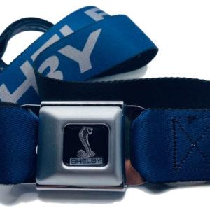 Shelby Seatbelt Pants belt Cobra Buckle Button and Printed Shelby Belt